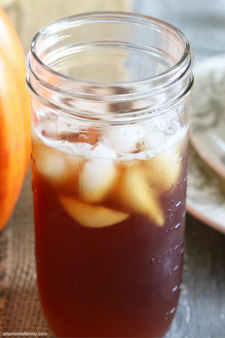 Fall Harvest Party Tablescape - Sweet Tea in Mason Jar