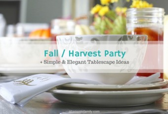 Fall Harvest Party - Simple and Elegant Tablescape Ideas for Thanksgiving