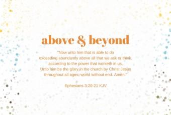 Ephesians 3:20 KJV Christian Devotion