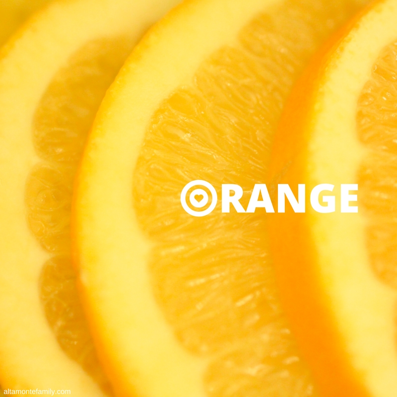 fresh orange slices