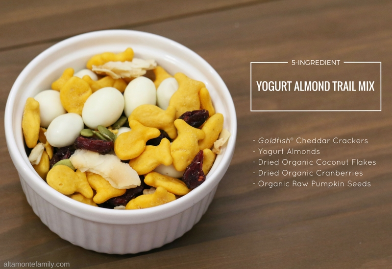 Yogurt Almond Trail Mix made with Goldfish Crackers Recipe