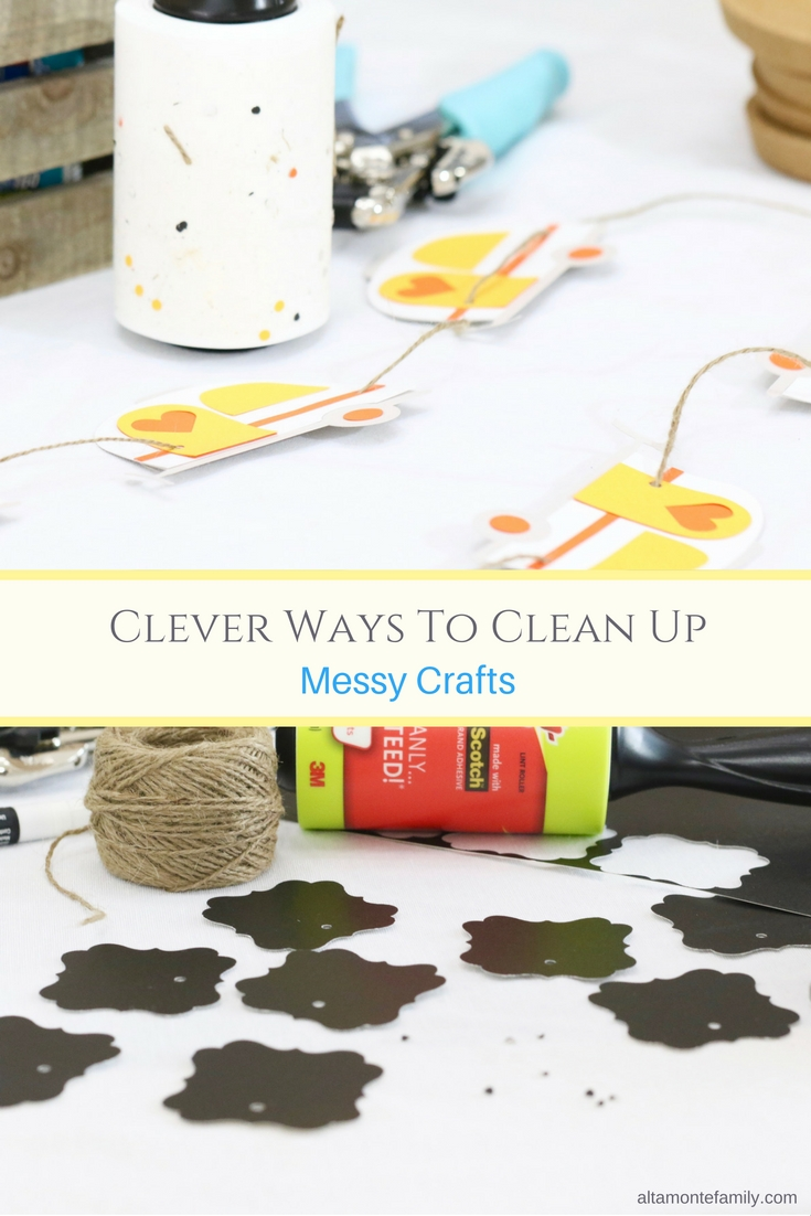 Clever Way To Clean Up Messy Crafts - Tutorial