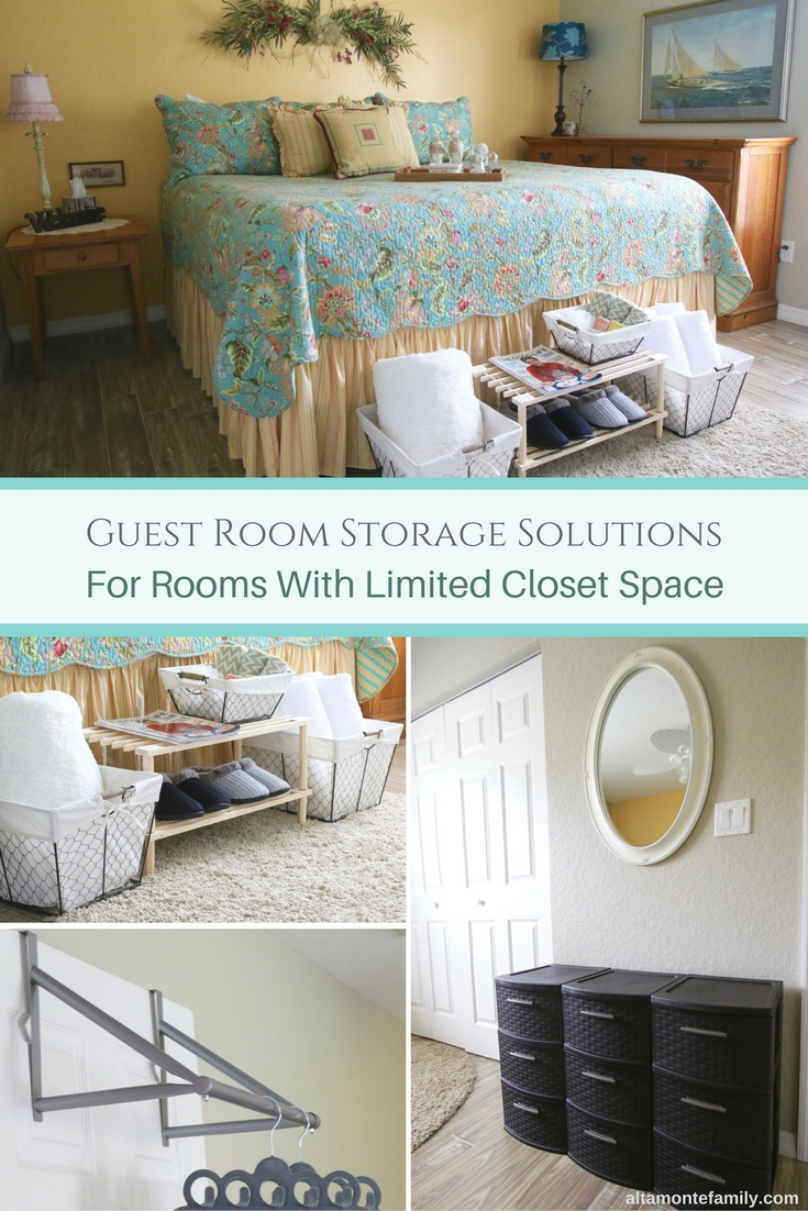Easy Guest Room Storage Solutions and Ideas for Rooms with Small Closet Space