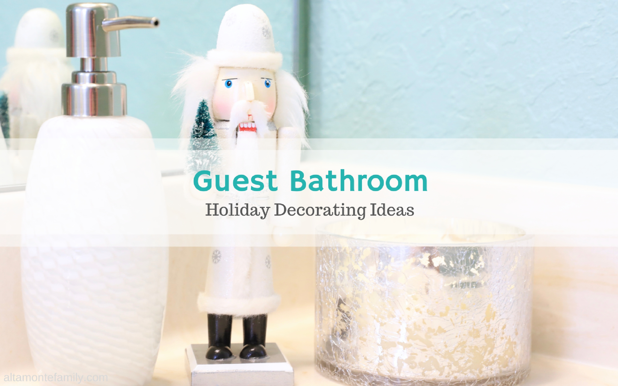 Fit Crafty Stylish And Happy Guest Bathroom Makeover: Brighten Up The Guest Bathroom For The Holidays