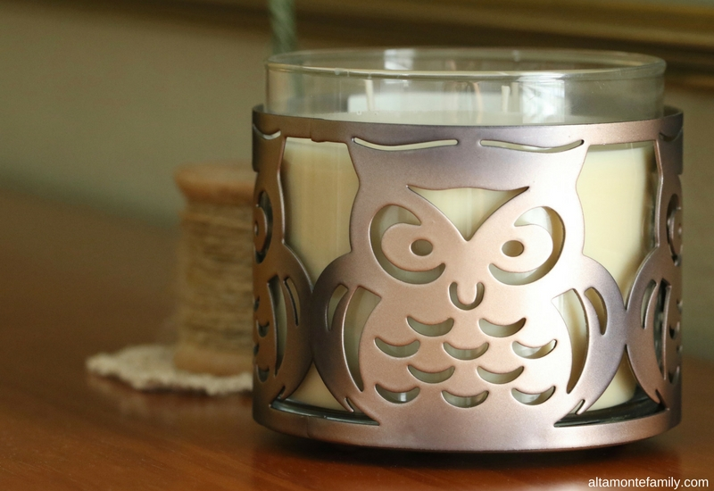 Owl Candle Holder - Fall Decorating Ideas