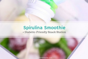 Spirulina Breakfast Smoothie + Diabetic-Friendly Snack Station