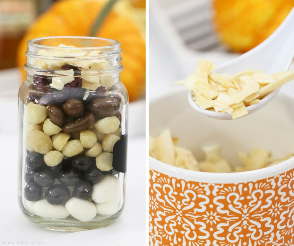 Trail Mix Party Buffet Bar Ideas - Mugs and Mason Jars