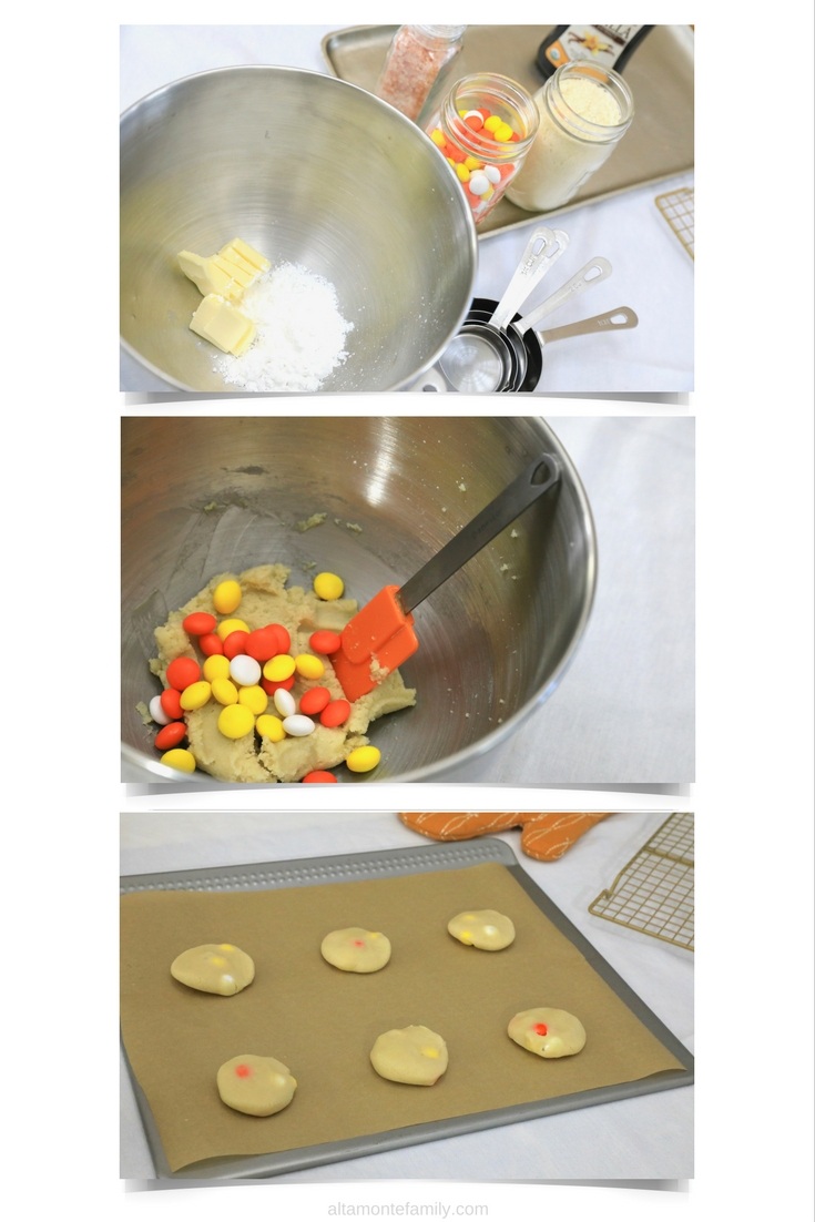 Almond Flour Shortbread Cookies with Candy Corn - Gluten-Free Recipe