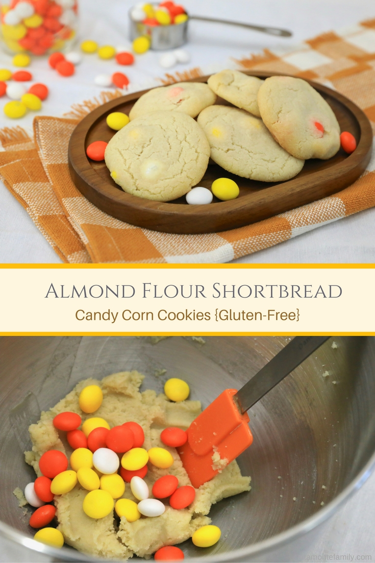 Almond Flour Shortbread Candy Corn Cookies - Gluten-Free #CookieSwappinGood