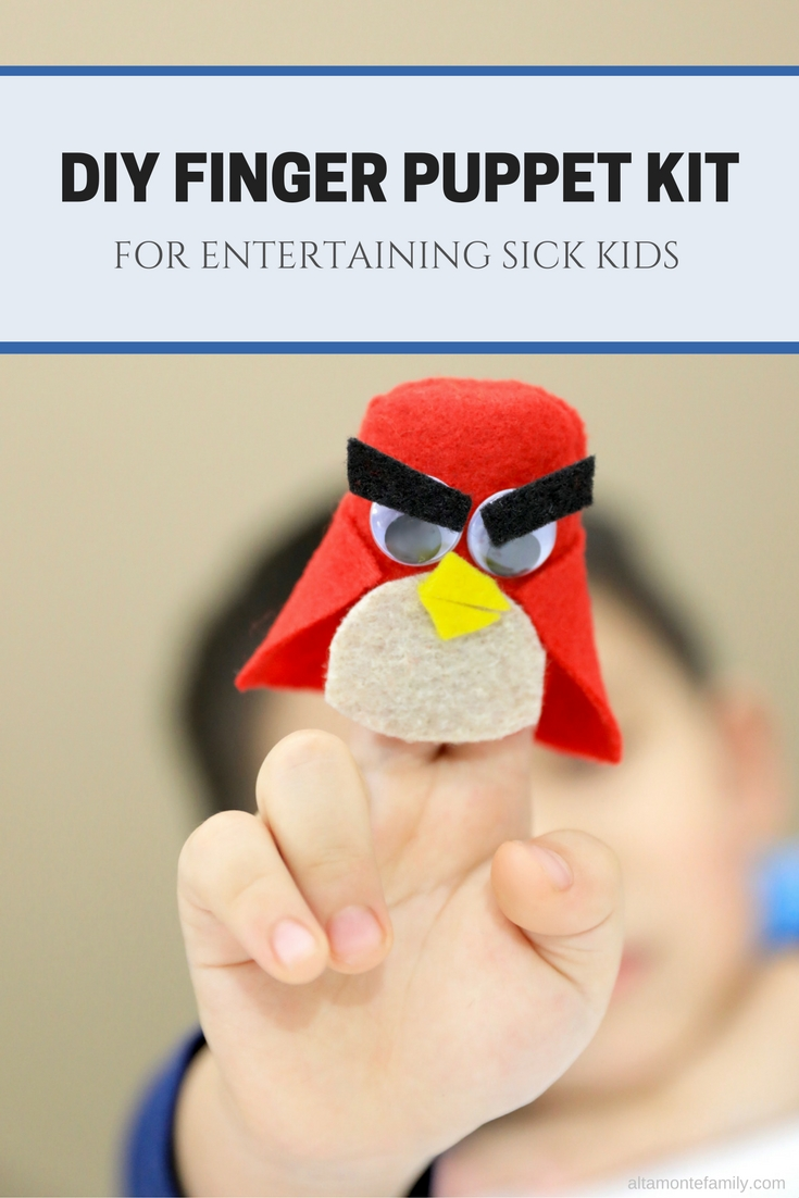 Entertaining Sick Kids At Home With Crafts - DIY Superhero Angry Bird Finger Puppet Kit