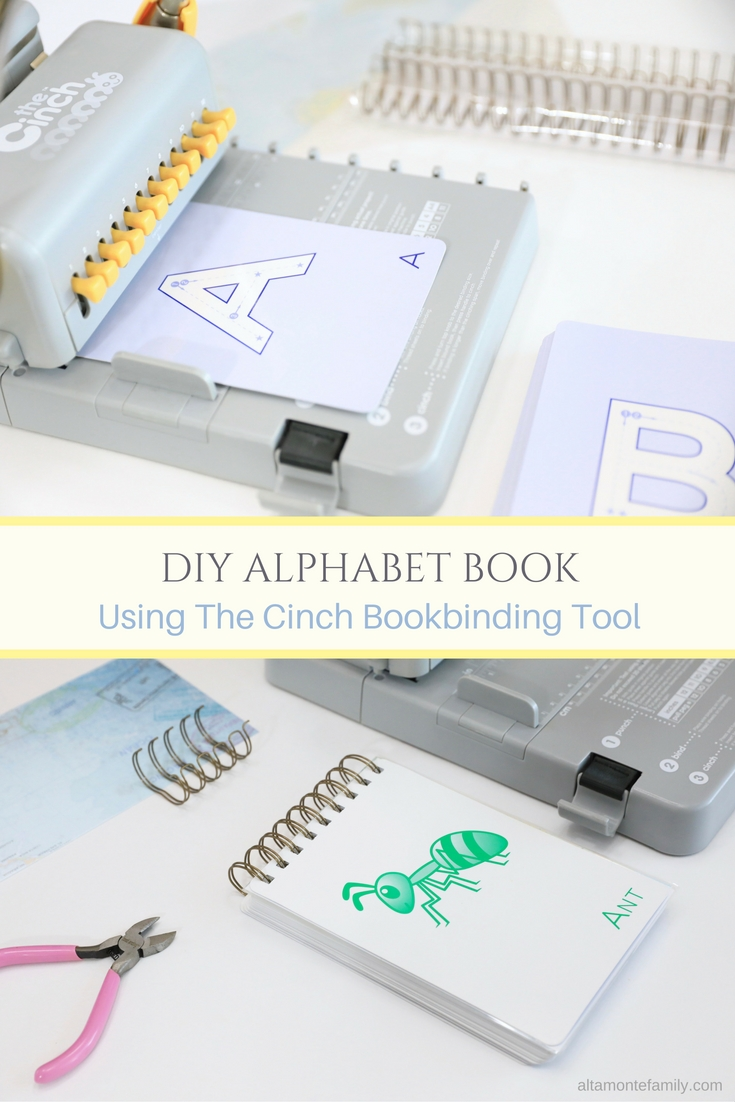 Make A DIY Alphabet Book With The Cinch | Altamonte Family