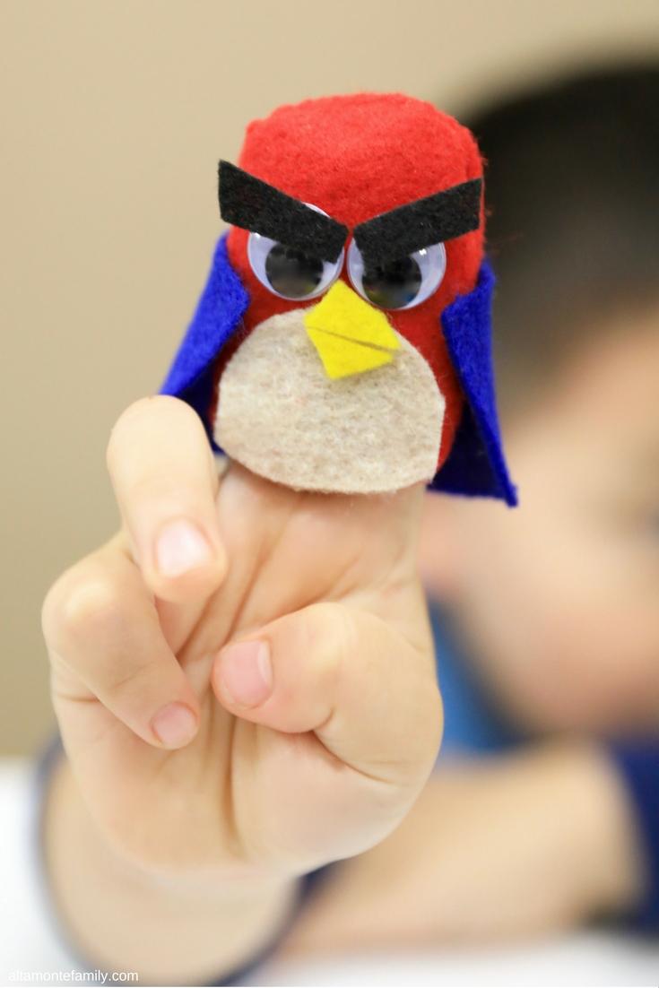 DIY Angry Bird Finger Puppet - Superhero Craft Ideas For Kids