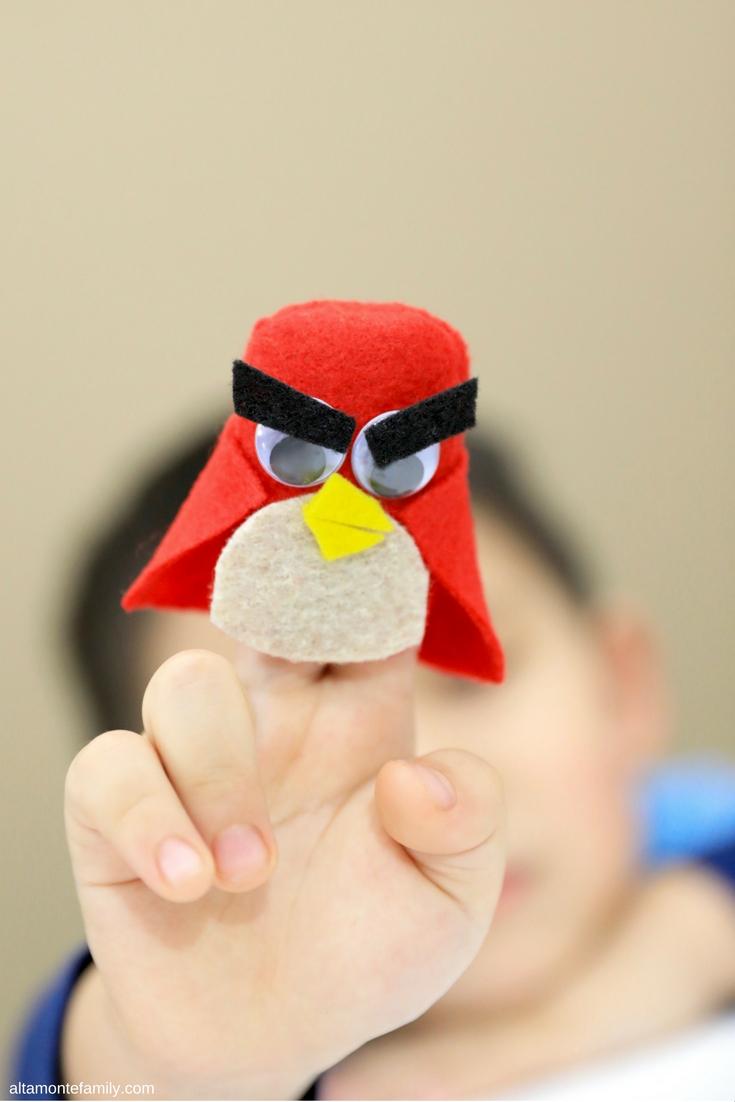 DIY Angry Bird Finger Puppet - Superhero Kids Craft Ideas
