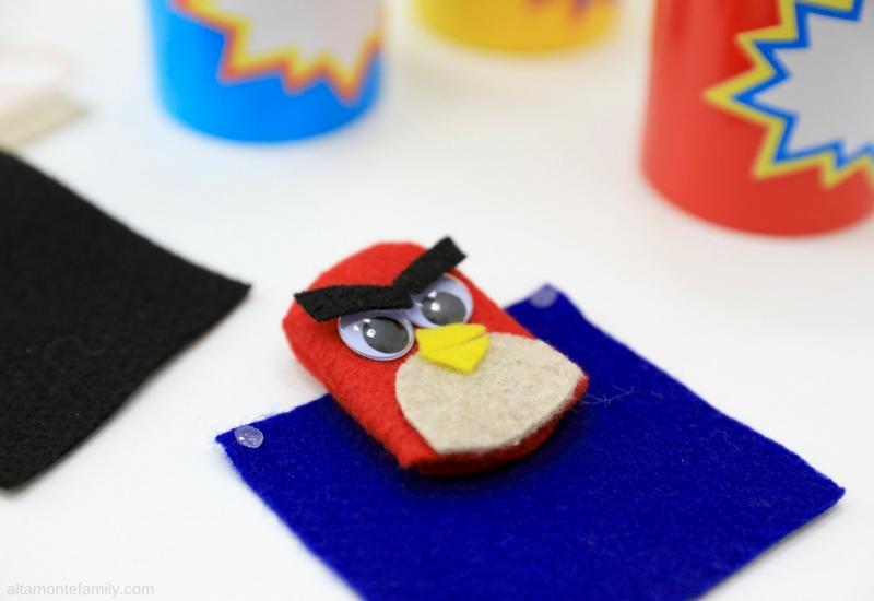 DIY Angry Bird Finger Puppet Kids Craft