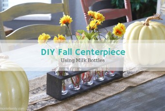 DIY Fall Centerpiece {Using Milk Bottles}