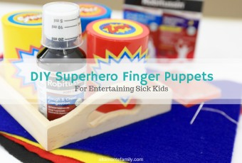 DIY Superhero Finger Puppet Kit For Entertaining Sick Kids