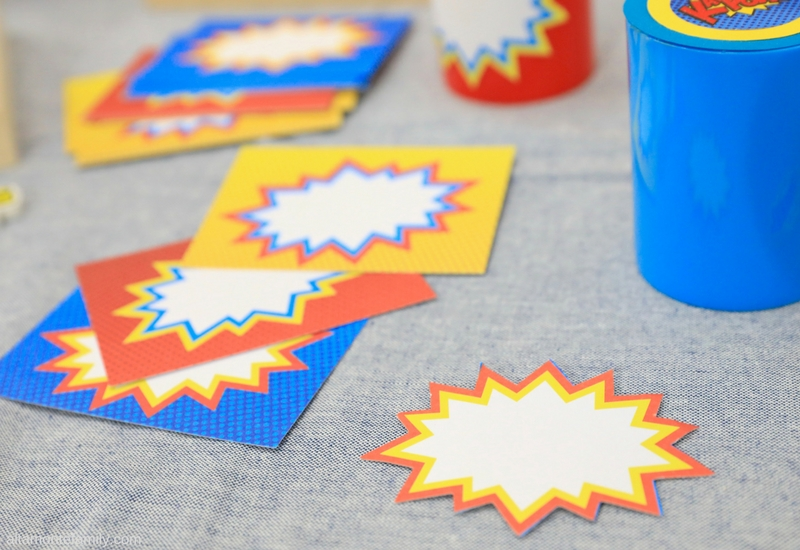 DIY Superhero Party Favor and Gift Ideas - Back To School