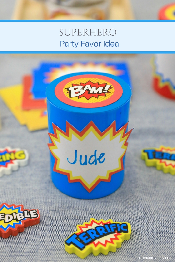 DIY Superhero Party Favor Idea