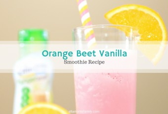 Orange Beet Vanilla Smoothie {Diabetic-Friendly}