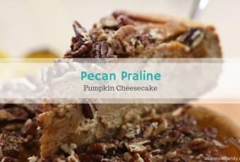 Pecan Praline Pumpkin Cheesecake