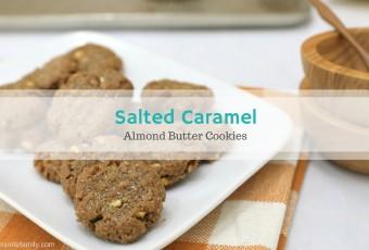 Salted Caramel Almond Butter Cookies {Gluten-Free}