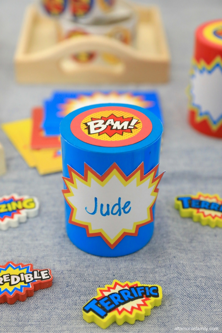DIY Superhero Party Favor Idea - Birthday Party for Boys