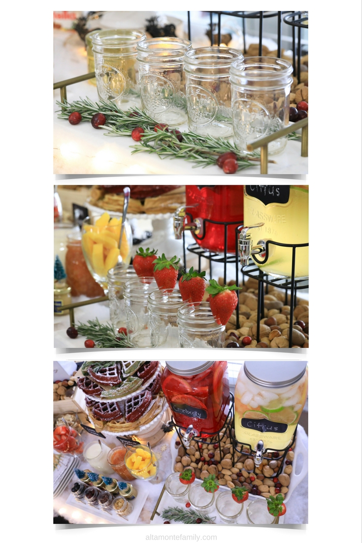 Christmas Brunch Holiday Party Beverage and Decoration Ideas