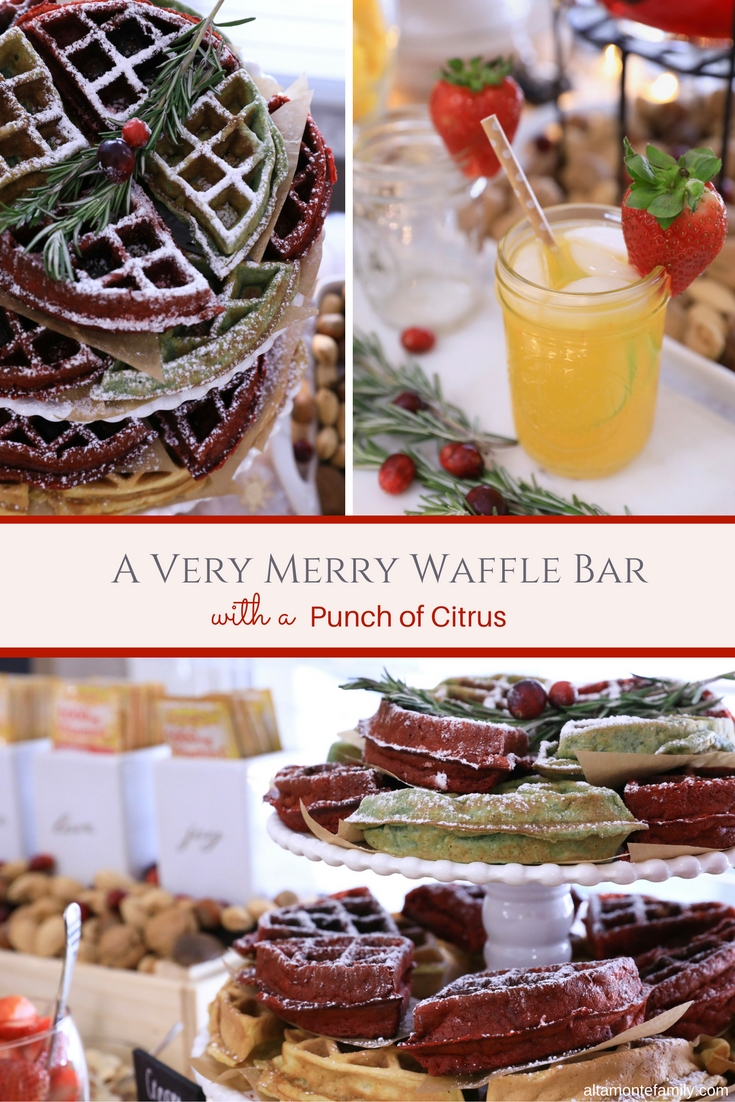 Christmas Waffle Bar Ideas and Holiday Citrus Punch Recipe