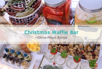A Very Merry Holiday Waffle Bar + Citrus Punch Recipe