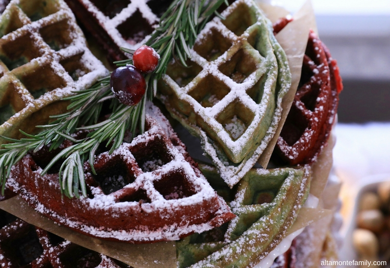 Christmas Waffle Recipe Ideas - Holiday Brunch Party Styling Tips
