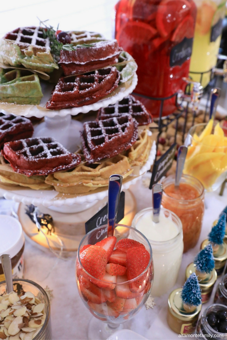 Waffle Bar Ideas Christmas Party Holiday Brunch
