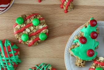 No Bake Oatmeal Cookies For Santa