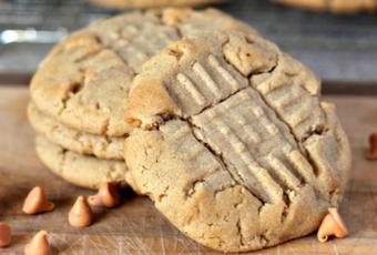 Peanut Butter & Butterscotch Criss Cross Cookies