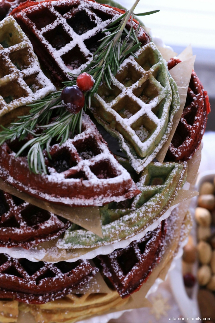 Christmas Waffle Recipe Ideas - Holiday Red Velvet Waffles