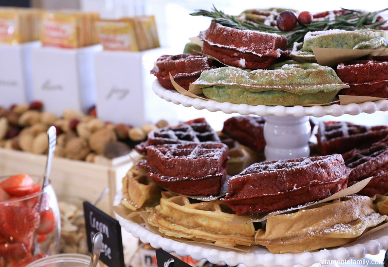 Waffle Bar Styling Ideas for Christmas Holiday Brunch