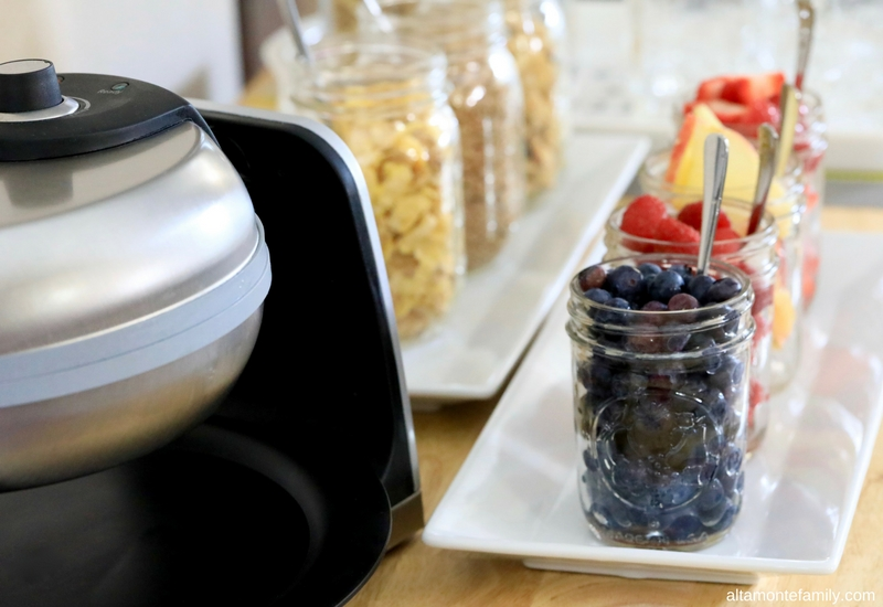 Breakfast Waffle Bar Ideas and Recipe