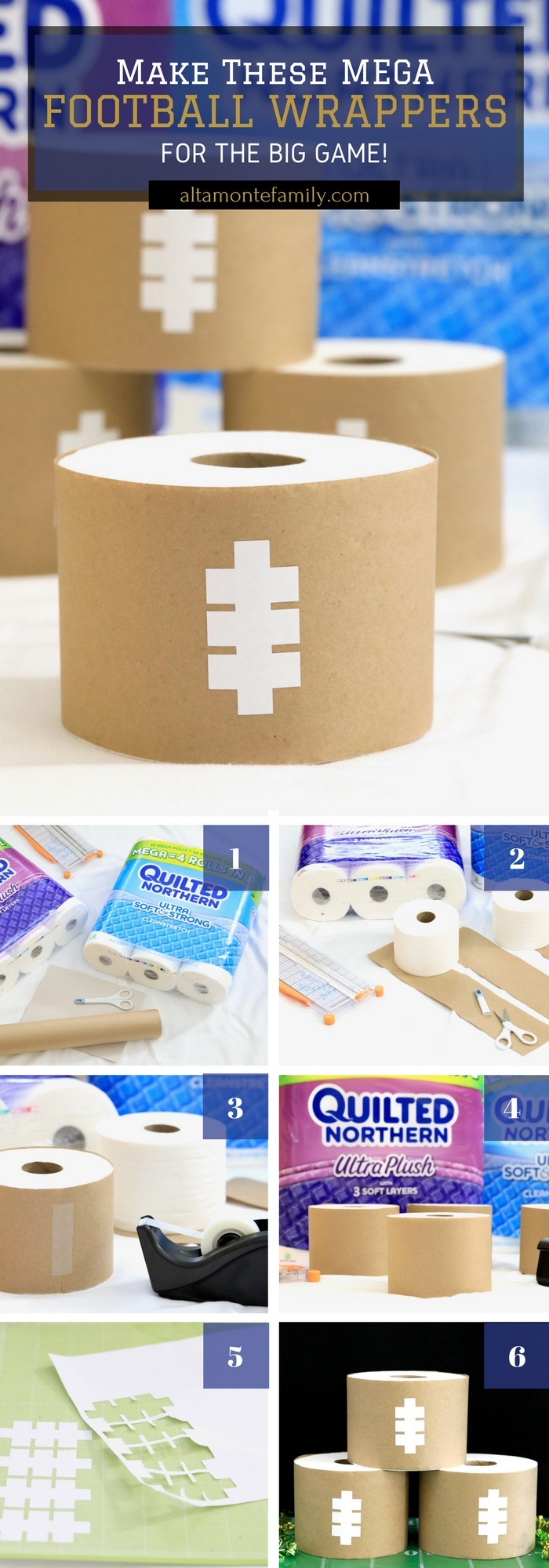 Cricut Explore Air Football Craft Ideas - Super Bowl / Game Day