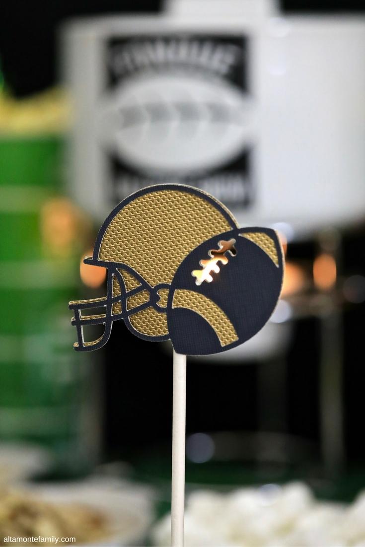 Cricut Explore Air Football Party Decorations - Helmet