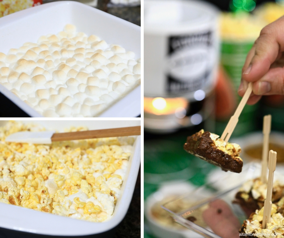 Fondue Popcorn Squares - Game Day Recipe and Party Ideas