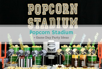 Game Day Popcorn Stadium + 2 Fondue Halftime Show Recipes