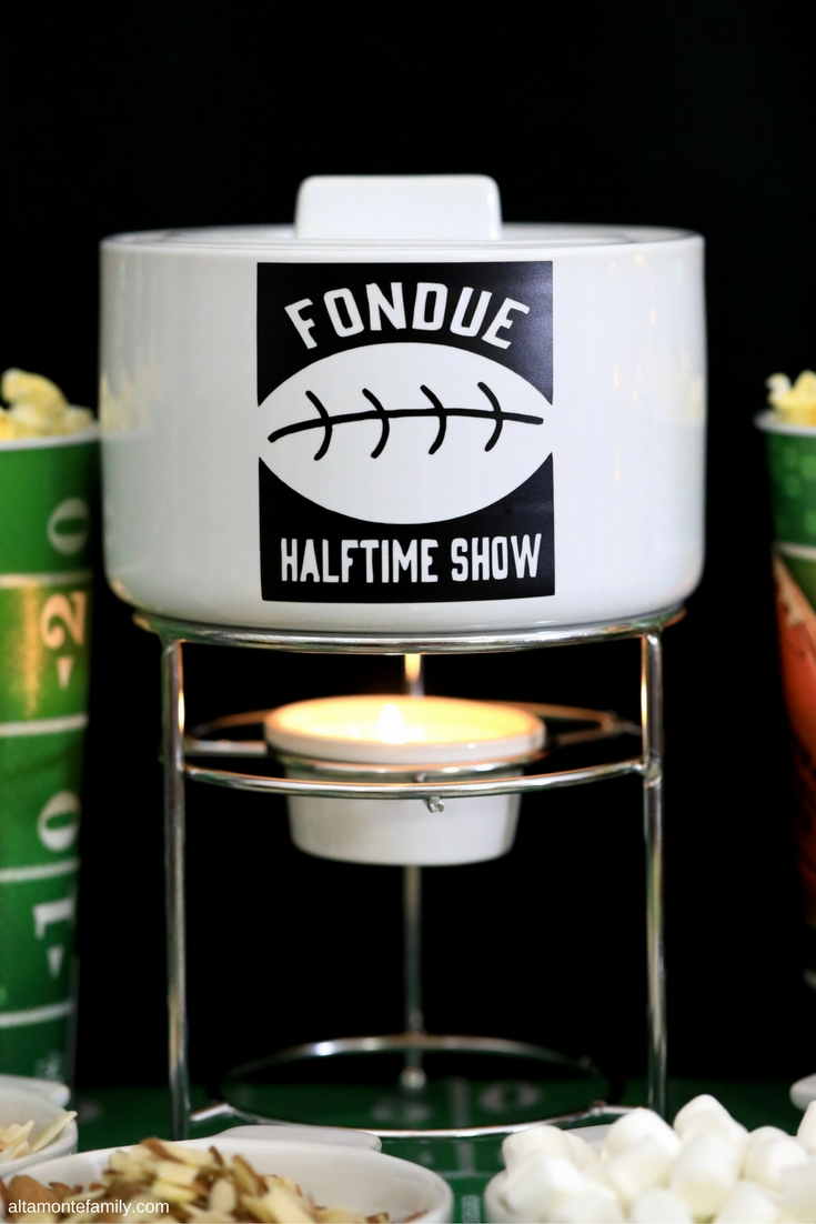 Free Cricut Explore Air Cut File Football Fondue Party