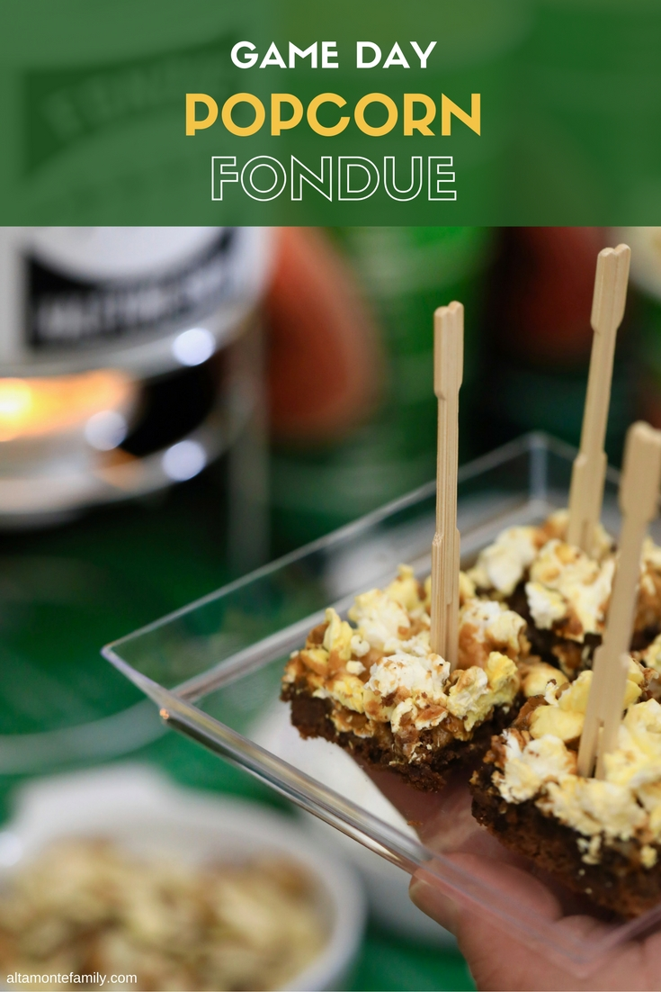 Popcorn Fondue Station Recipe and Game Day Party Ideas