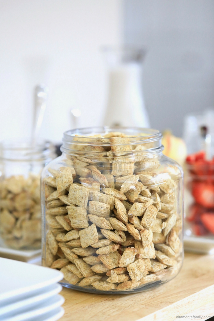 Storage Ideas For Breakfast Cereal - Large Mason Jar