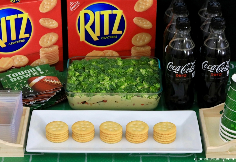 Game Day Party Food Ideas - Layered Broccoli Hummus Dip