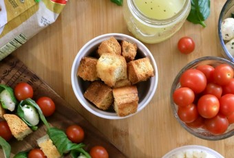 Panzanella Skewers For Family Night