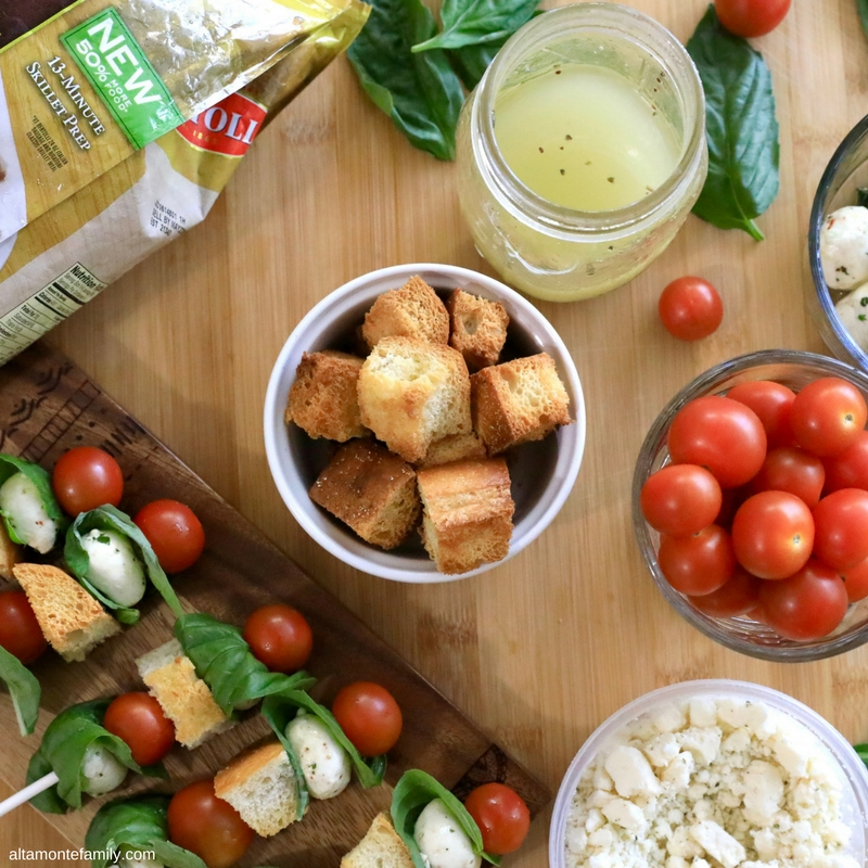 Panzanella Skewers Recipe - Easy Family Night Dinner Ideas