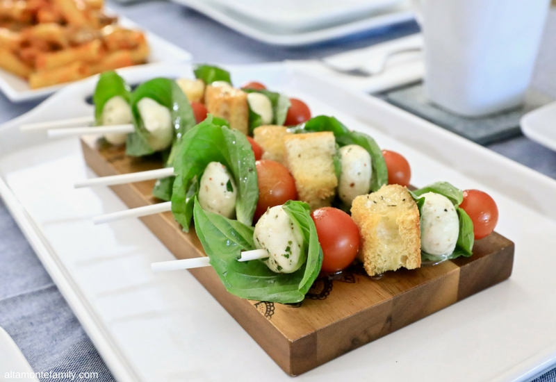 Panzanella Skewers Recipe with Yuzu Vinaigrette