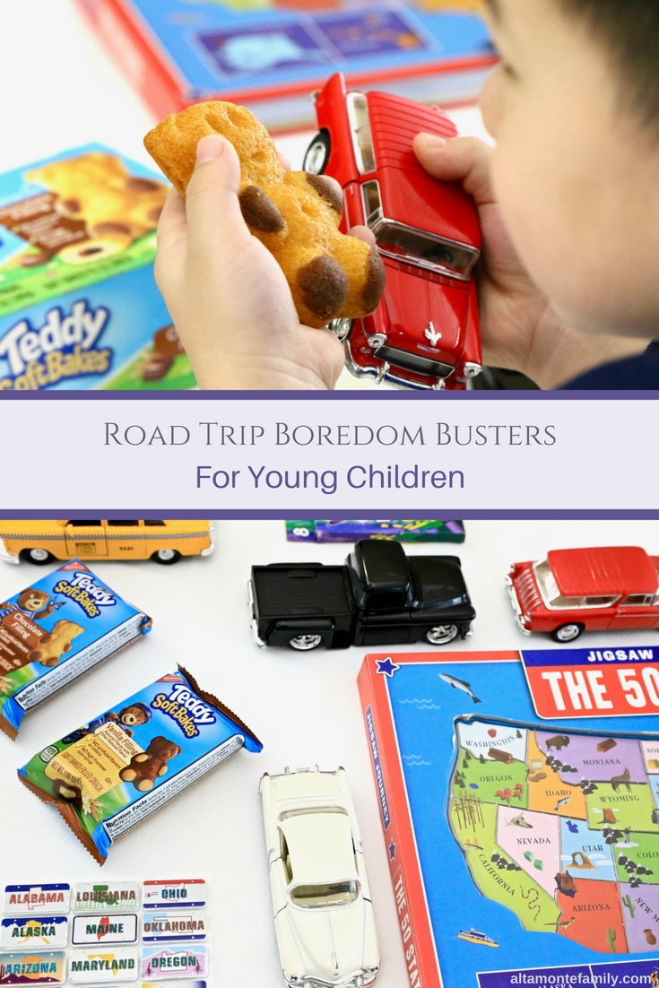 Road Trip Boredom Busters and Snacks For Young Children