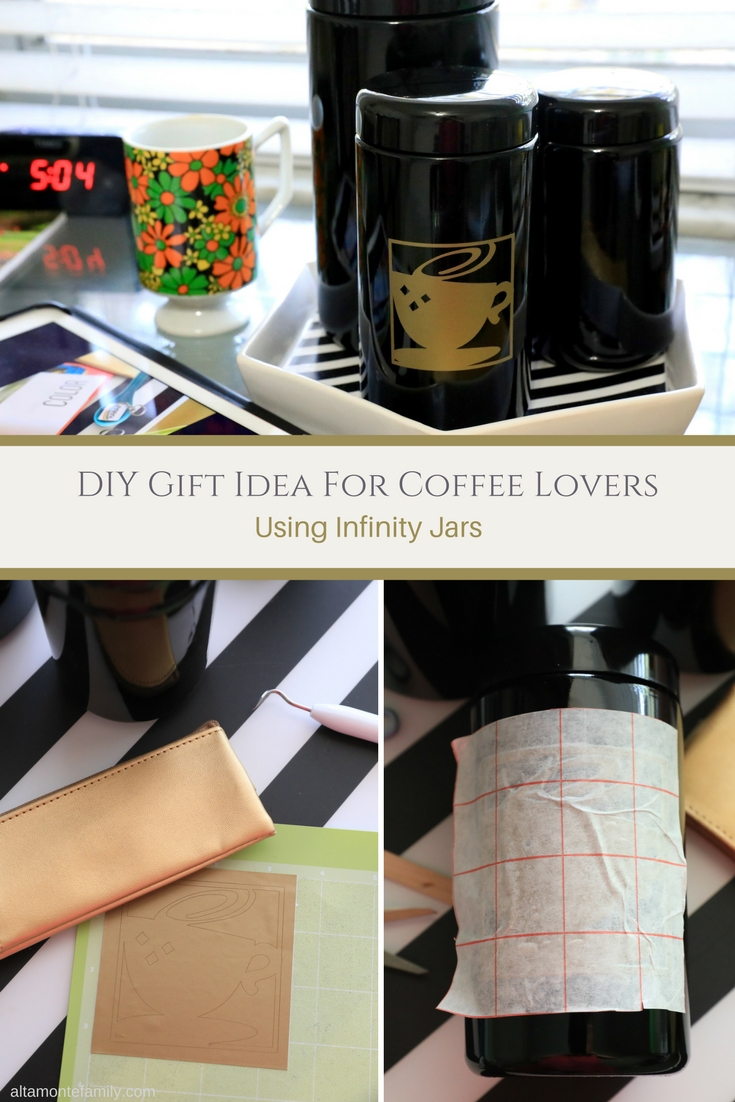 DIY Coffee Storage Jar Gift Idea For Caffeine Lovers - Cricut Explore Air Project Ideas