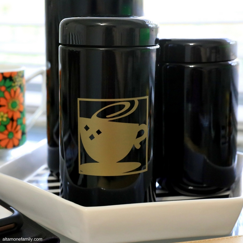 DIY Coffee Storage Jar With Infinity Jars and Cricut Explore Air Transfer Vinyl